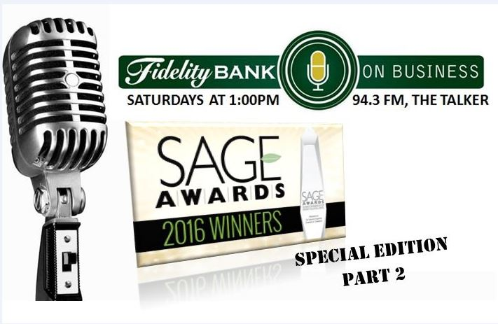 Fidelity Bank on Business - Sage awards 2016 winners, special edition part 2